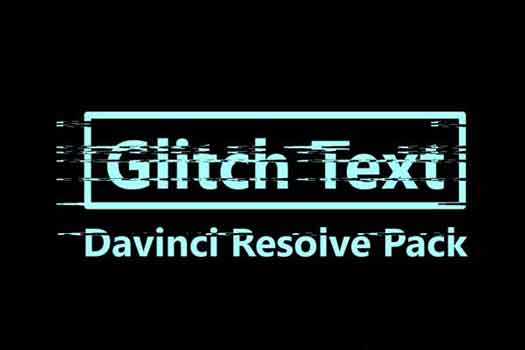 Resolve glitch text template